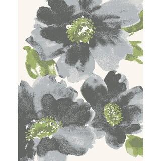 Eternity Floral Grey Rug (2' x 3'11)