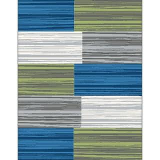 Eternity Blocks Multi-colored Rug (7'10 x 11'2)