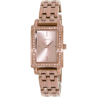 DKNY Women's 'NY8625' Rose Goldtone Stainless Steel Quartz Watch