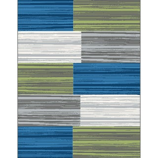 Eternity Blocks Multi-colored Rug (5'3 x 7'7)