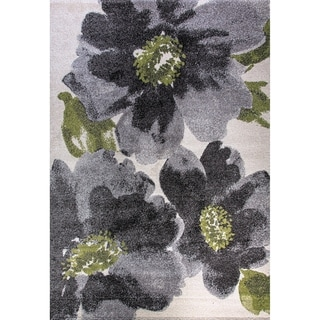 Eternity Floral Grey Rug (5'3 x 7'7)