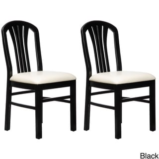 Fanback Beechwood Side Chairs (Set of 2)