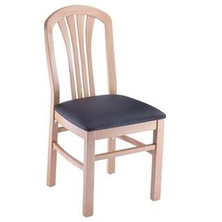 Fanback Beechwood Side Chairs (Set of 2)