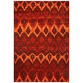Domani Passport Flames Sienna Area Rug (7'7 x 10'10)