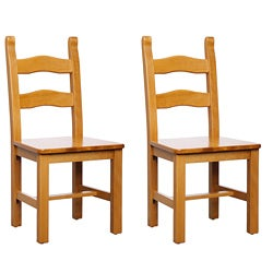Monticello Cherry Finish Side Chairs (Set of 2)