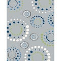 Eternity Geometric Grey Rug (3'11 x 5'7)