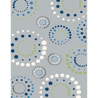 Eternity Geometric Grey Rug (7'10 x 11'2)
