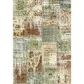 Eternity Patchwork Multi-colored Rug (7'10 x 11'2)