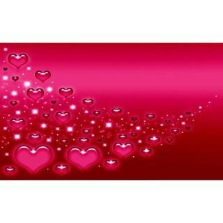 Pink Hearts Canvas Printing Wall Art