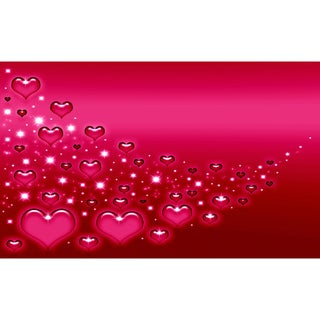 Pink Hearts Canvas Printing Wall Art