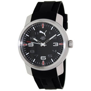 Puma Men's 'Motor' Black Dial Rubber Strap Watch