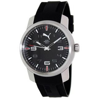 Puma Men's 'Motor' Black Dial Rubber Strap Watch