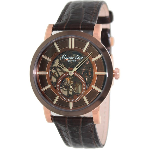 Kenneth cole men 39 s 39 classic 39 automatic skeleton dial watch 15521491 overstock shopping big for Classic skeleton watch