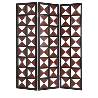 75-inch Navarro 3-Panel Wooden Screen (China)