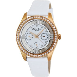 Kenneth Cole Women's Crystal-accented White Dial Watch