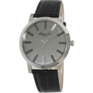Kenneth Cole Men's 'Classic' Black Leather Strap Watch