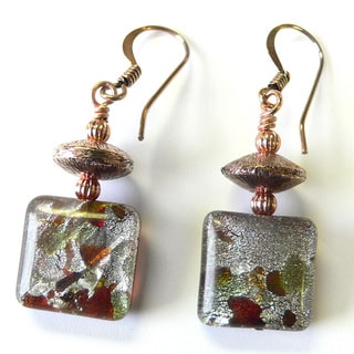 Palmtree Gems 'Belinda' Millefiori and Copper Dangle Earrings