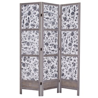 Cachet Three-Panel Fabric Screen (China)