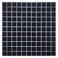 SomerTile 12x12 Victorian Matte Black Porcelain Mosaic Tile (Pack of 10)