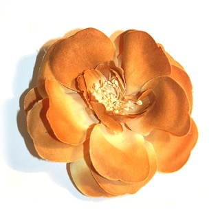 Fabric Rose Petal Magnetic Brooch
