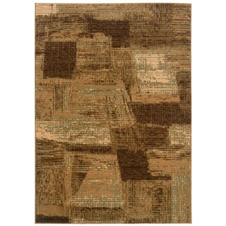 LNR Home Opulence Light Brown/ Cream Abstract Rug (3'11 x 5'3)