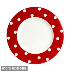 Red Vanilla Freshness Mix & Match Red Dinner Plate (Set of 6)