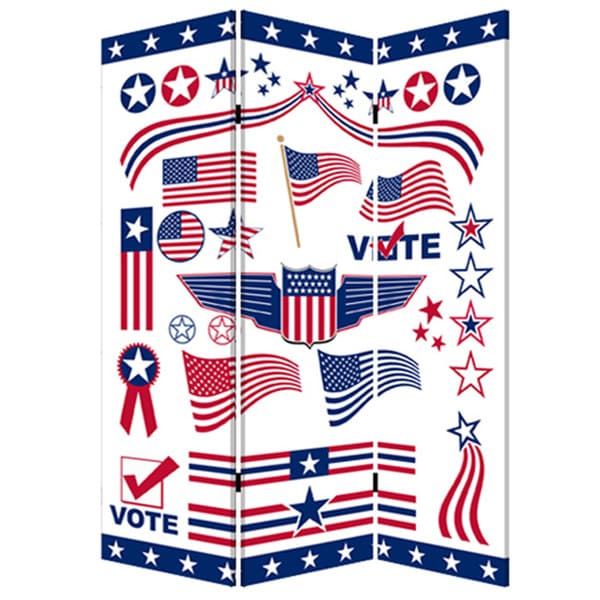 Vote 3-Panel Canvas Screen