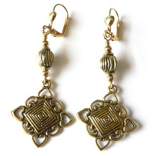 Palmtree Gems 'Trixi' Antiqued Earrings