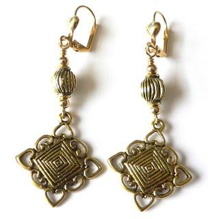 Palmtree Gems 'Trixi' Antiqued Earrings