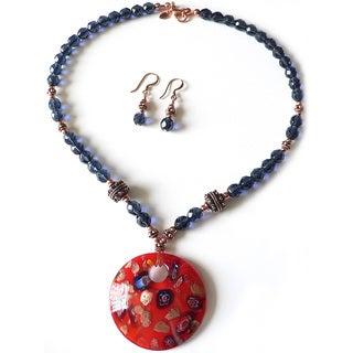 Palmtree Gems 'Milleflori Madness' Jewelry Set