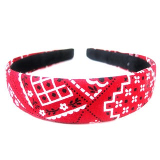 Crawford Corner Shop 1-inch Wide Red Bandana Headband