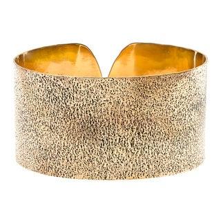 Handmade Copper Texture Brass Cuff (India)