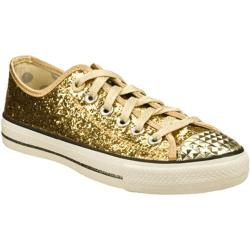 Women's Daddy's Money Glimmer Glitter Explosion Gold/Gold