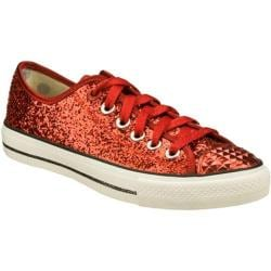Women's Daddy's Money Glimmer Glitter Explosion Red