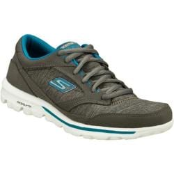 Women's Skechers GOwalk Dynamic Charcoal/Turquoise