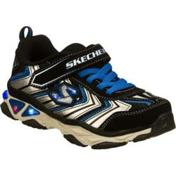 Boys' Skechers S Lights Galvanized Lova Black/Silver