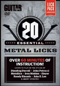 20 Essential Metal Licks: Over 60 Minutes of Instruction! (DVD video)