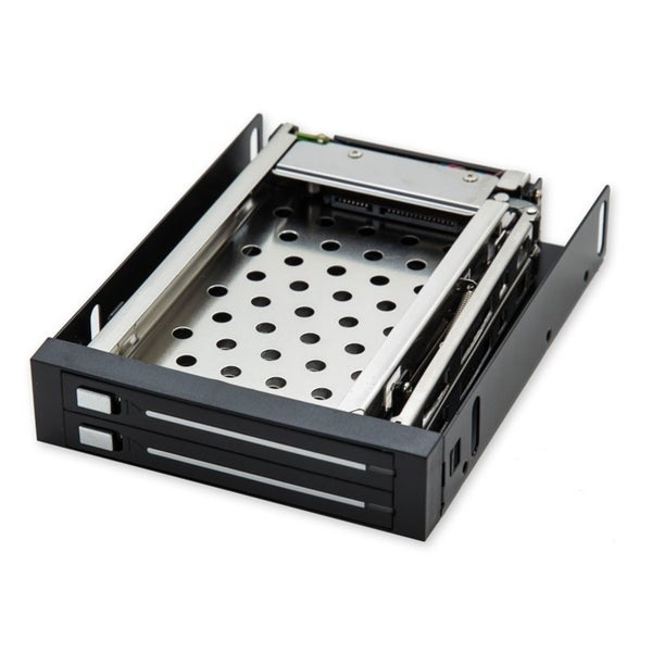 IOCrest Removable Mobile Rack for Dual 2.5-inch SATA2 HDD, Fit in 3.5-inch Bay