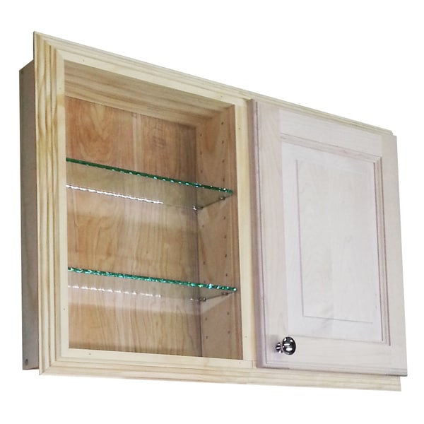 18-inch Recessed Dual Mount Single Door Baldwin Medicine Storage Cabinet