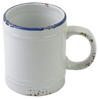 Hand-painted Enamel Vintage-style Mugs (Set of 6)
