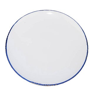 Small Hand-painted Enamel Vintage-style Plates (Set of 6)
