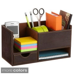 Leather Look Small Organizer (Set of 4)