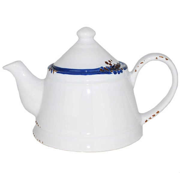 Hand-painted Enamel Vintage-style Teapot