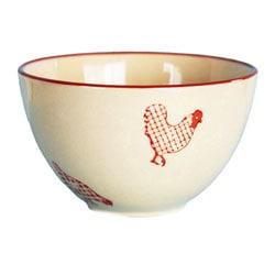 Barnyard-style Stoneware Bowls (Set of 4)