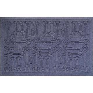 Weather Beater Antique Keys Blue Doormat (1'10 x 2'11)