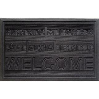 Weather Beater International Welcome Black Doormat (1'10 x 2'11)