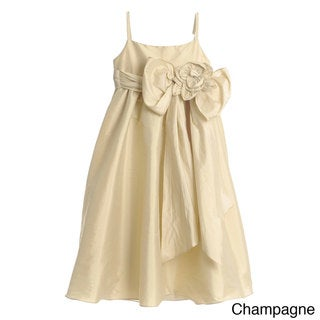 US Angels Girls Formal Beaded Rosette Dress