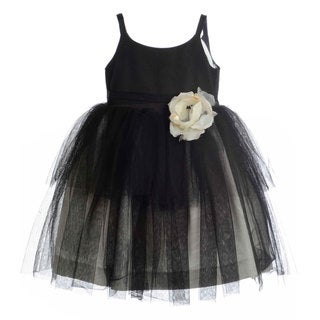 US Angels Girls Special Occasion Ballerina Rose Flower Dress