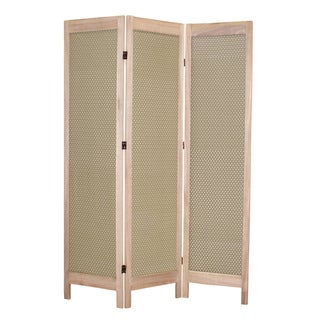 Casablanca 3-Panel Fabric Screen (China)