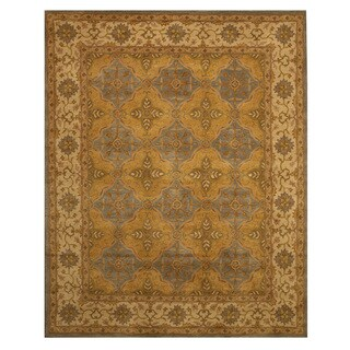 Hand Tufted Wool Panel Agra Rug (7'9